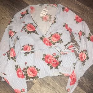 Charlotte Russe Wrap Top